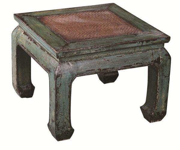 kitajskij kvadratnyj fenshuj kofejnyj stolik na izognutyx nozhkax