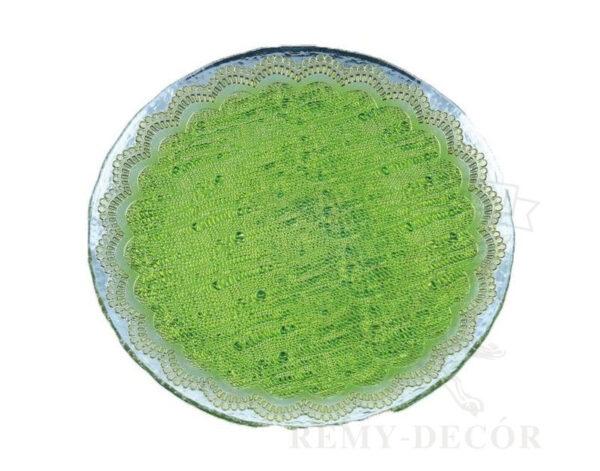 neobychnaya podstanovochnaya tarelka zelenogo cveta kupit v kieve