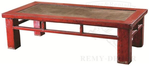 tibetskij krasnyj tradicionnyj kofejnyj stolik