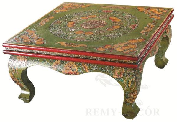 vostochnyj etnicheskij kvadratnyj kofejnyj stolik s rospisyu