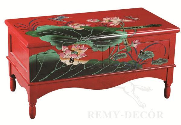 yugo vostochnyj krasnyj kofejnyj stolik s cvetami