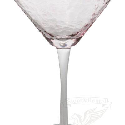 bokal dlya martini rozovogo cveta s zolotym obodkom