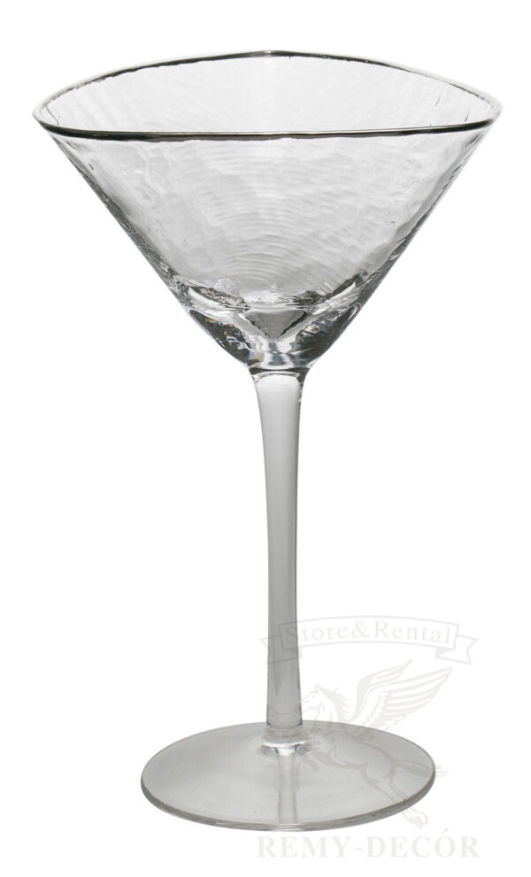 bokaly dlya martini prozrachnye s serebryanym obodkom na dlinnoj nozhke