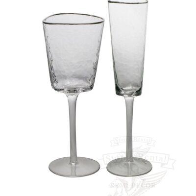 bokaly dlya vina i shampanskogo prozrachnye s serebryanym obodkom kupit v ukraine