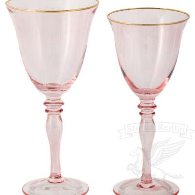 bokaly dlya vina i shampanskogo rozovye na dlinnoj nozhke kilian v prokat