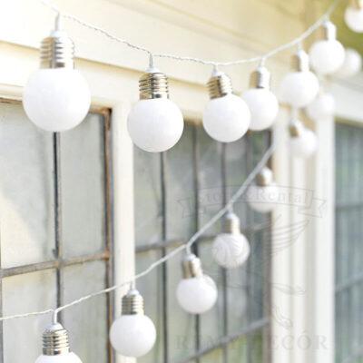 Гирлянда светодиодная с лампами 4 см не яркая