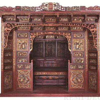 kitajskaya krovat besedka iz dereva dlya zakrytyx chajnyx ceremonij
