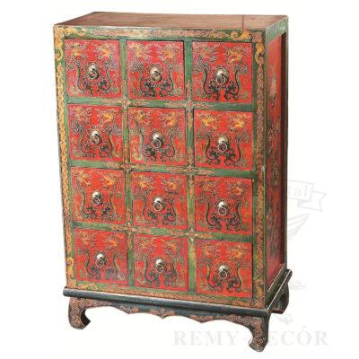 komod iz dereva s tradicionno kitajskimi risunkami vydvizhnye yashhiki