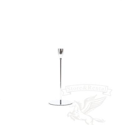 nizkij serebryanyj podsvechnik na tonkoj nozhke v kieve
