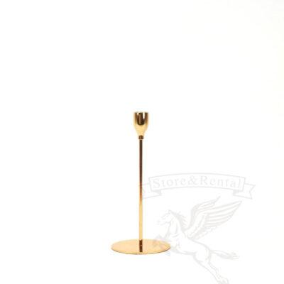 podsvechnik zolotoj na tonkoj nozhke s ploskim osnovaniem kupit v kieve