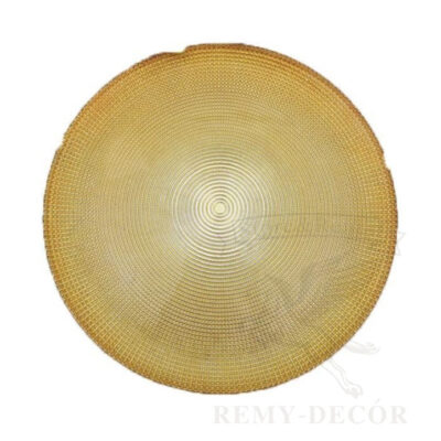 prozrachnaya glubokaya tarelka s zolotym otlivom