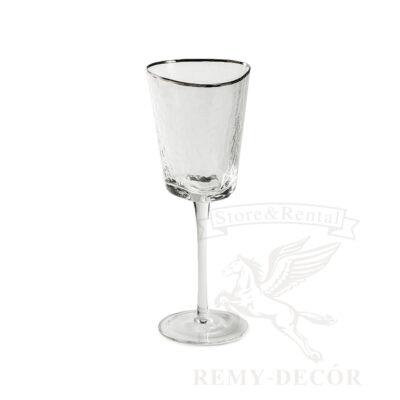 prozrachnye vinnye bokaly dlya vina s serebryanym kantom