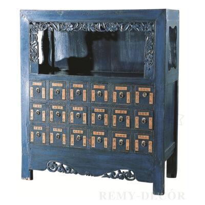 starinnyj komod iz derevogo sinego cveta s vydvizhnymi yashhikami v kitajskom stile min