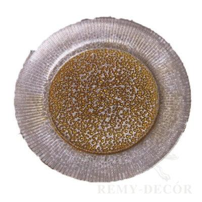 tarelka podstanovochnaya cvet zoloto kupit v ukraine