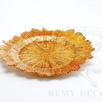 tarelka podstanovochnaya korall zoloto