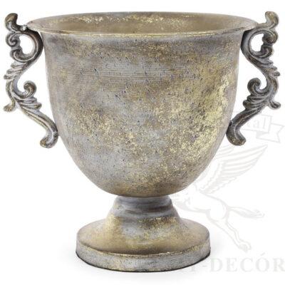 vaza metallicheskaya s vitymi ruchkami kupit v ukraine