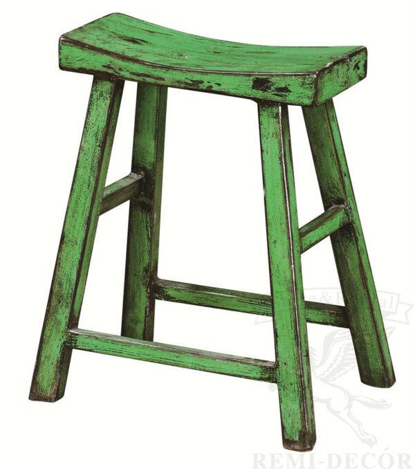 zelenyj taburet iz dereva zastarennyj kitajskij stil