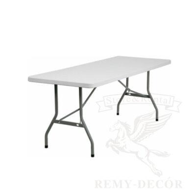 primougolnyj raskladnoj stol s plastikovoj stolshnicoj i metallicheskimi nozhkami v ukraine remi dekor