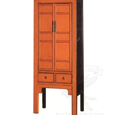 Шкаф в строгом дизайне оранжево-черного цвета