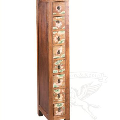v kitajskom stile komod iz tverdoj drevesiny ukrashen rastitelnym ornamentom svydvizhnymi yashhikami