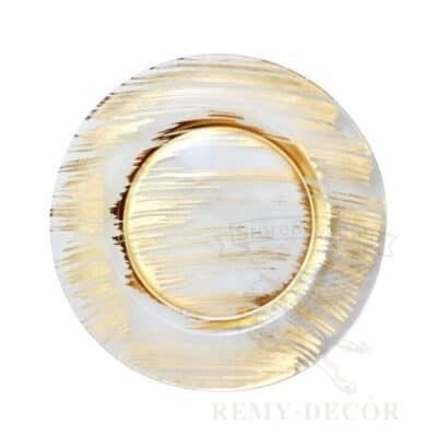 banketnaya podstanovochnaya tarelka feniks steklo s zolotom kupit v kieve jpg