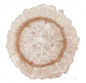 blyudo podstanovochnoe korall cveta shampan