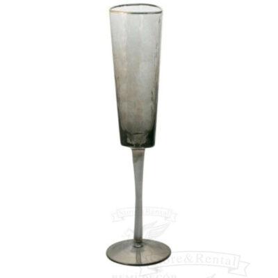 dymchato chernyj bokal dlya shampanskogo s zolotym kantom kupit v ukraine