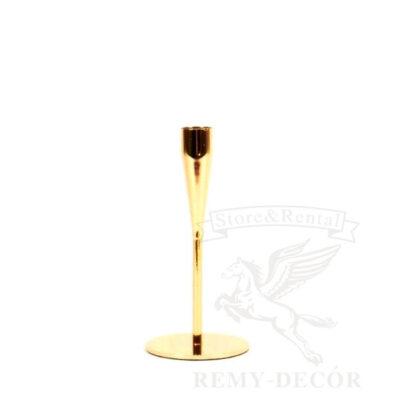Подсвечник золотой на тонкой ножке 17 см продажа