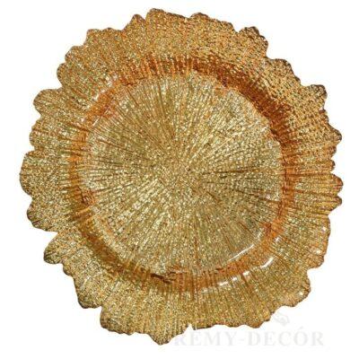 tarelka podstanovochnaya zolotoj korall