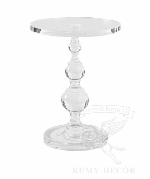 akrilovyj furshetnyj kruglyj prozrachnyj stol ukraina