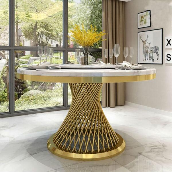 kruglyj zolotoj stol dlya banketov v ukraine steel frame wedding dining table