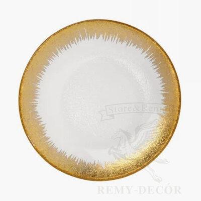 podstavnoe blyudo gold prime s zolotym kantom dlya restoranov v ukraine