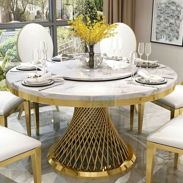 stol banketnyj royal gerold zolotoj ukraina steel frame wedding dining table