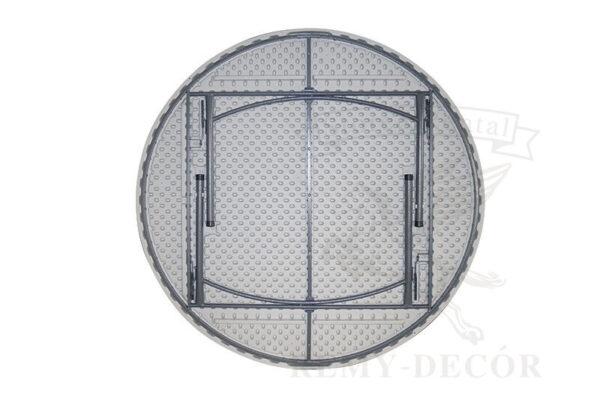 stoly kruglye plastikovye na metallicheskix nozhkax dlya torzhestv i prazdnikov