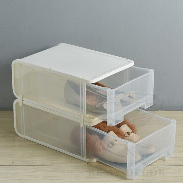 vydvizhnye plastikovye yashhiki dlya xraneniya obuvi doma clear plastic drop front storage
