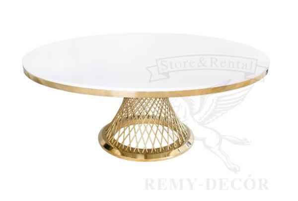 zolotoj kruglyj stol royal gerold v ukraine dlya svadby i banketa steel frame wedding dining table