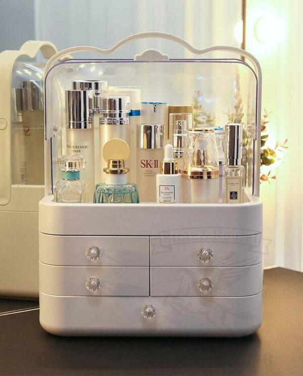 makeup box organajzer dlya xraneniya kosmetiki s vydvizhnymi yashhikami