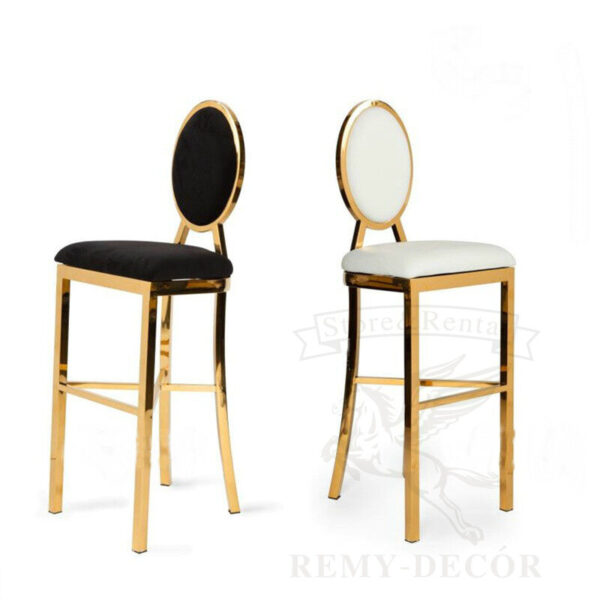 stulya v zolotoj nerzhavejki dlya koktejlnyx stolov milan modern back gold stainless