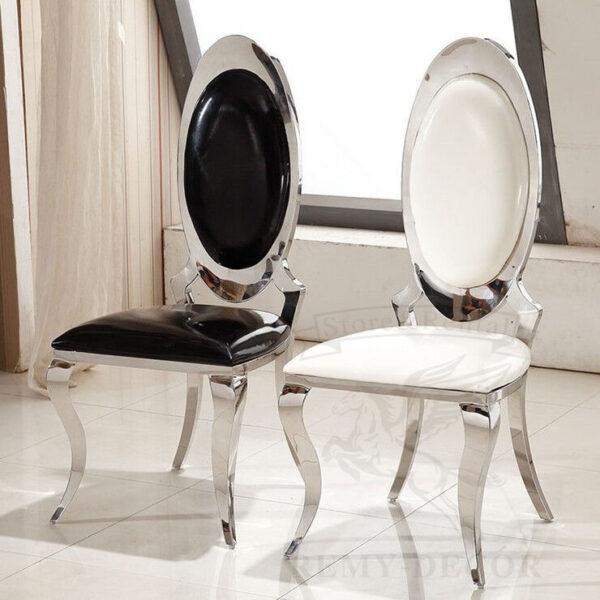 obedennye stulya v serebre iz nerzhavejki dining stainless steel chair