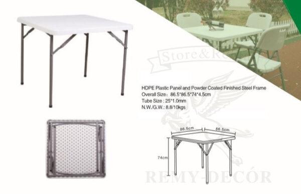 kvadratnyj plastikovyj stol skladnoj dlya furshetov restoranov kejteringa v ukraine