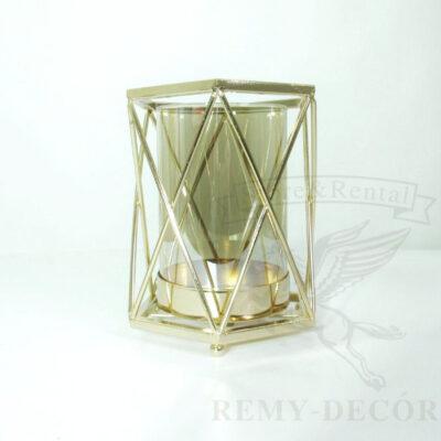 podsvechnik golden bowl sm iz stekla i zolotogo metala