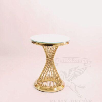 dekorativnyj stolik iz pozolochennoj nerzhavejki royal gerold