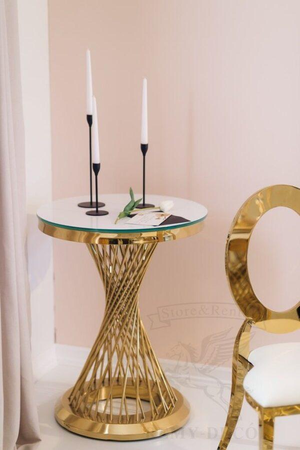 pozolochennyj furshetnyj stol royal gerold iz nerzhavejki