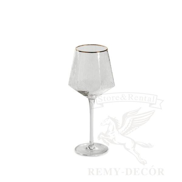 bokal dlya belogo vina biryuza s zolotoj kajmoj fuzher