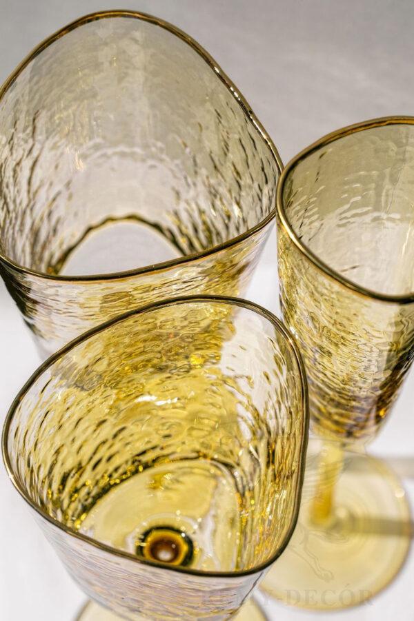 komplekt yantarnyx fuzherov dlya vina dlya shampanskogo xajbol stakan