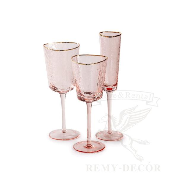 komplekty rozovyx bokalov dlya vina dlya shampanskogo fuzhery