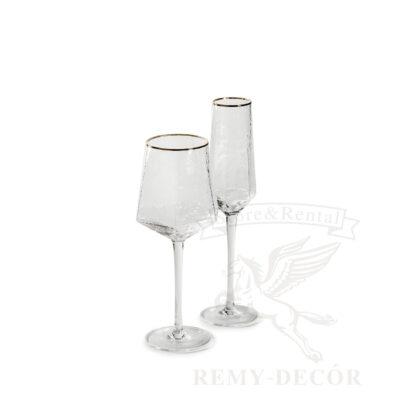nabor bokalov biryuza dlya vina i shampanskogo