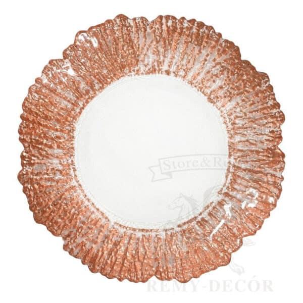 podtarelnik korall steklyannyj s krasno zolotym kraem sm