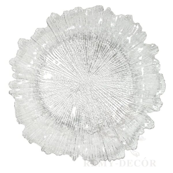 prozrachnyj podtarelnik korall iz stekla tarelka banketnaya sm
