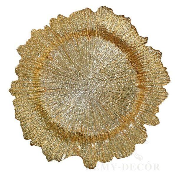 podstavnoe blyudo zolotistyj korall remy decor